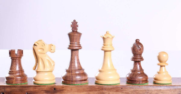 "3 3/4"" Sheesham Deluxe Staunton Chess Men - Piece - Chess-House"