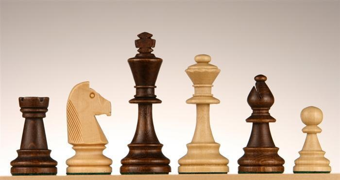 chess boards and chess pieces - 3 3/4 inch Standard Staunton chess Pieces #6 - Chess Pieces