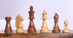 "3 3/4"" Timeless Chess Pieces - Sheesham & Boxwood - Piece - Chess-House"