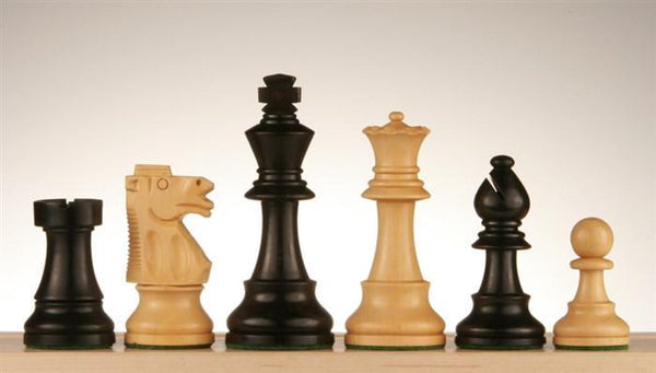 "3 3/4"" Wood Staunton Club Chess Pieces - Piece - Chess-House"