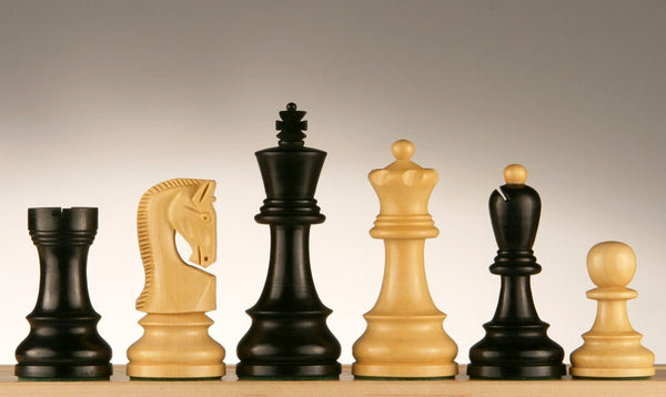 "3 3/4"" Yugo (Zagreb) Ebonized Chessmen - Piece - Chess-House"