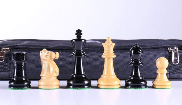 "3 5/8"" Ultimate Style Wooden Chess Pieces - Ebonized - Piece - Chess-House"