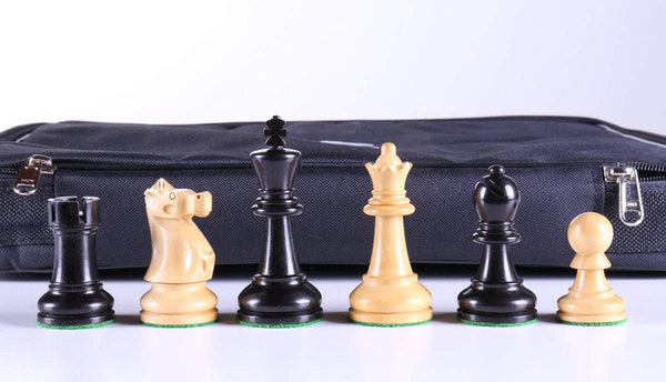 "3 5/8"" Ultimate Style Wooden Chess Pieces - Ebony - Piece - Chess-House"