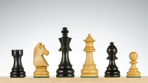 "3 7/8"" German Staunton Chessmen - Ebonized - Piece - Chess-House"