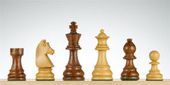 "3 7/8"" German Staunton Chessmen - Golden Rosewood - Piece - Chess-House"