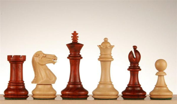 "3"" Budrosewood Super Grand Staunton Chess Pieces - Piece - Chess-House"