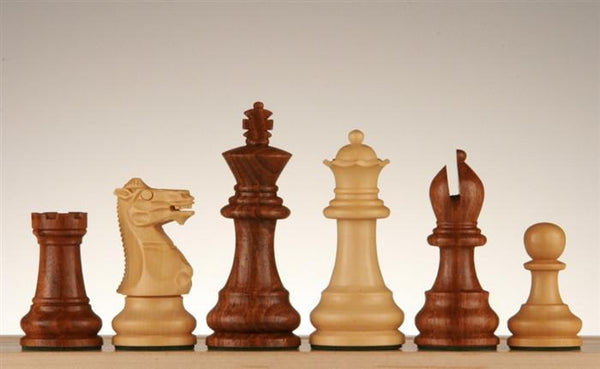 "3"" Golden Rosewood & Boxwood Chess Pieces - Piece - Chess-House"