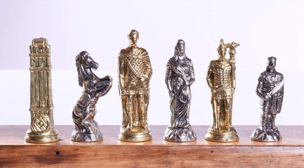 "3"" Hannibal Roman Themed Metal Chessmen - Piece - Chess-House"