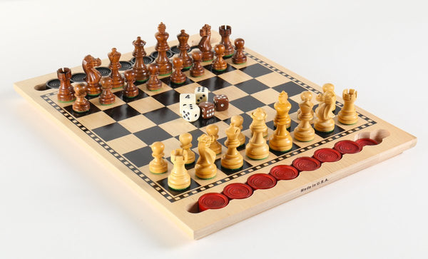 3-in-1 Game Set - USA Made - Chess Set - Chess-House