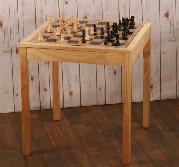 3 in 1 Wood Chess Table