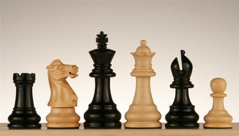 "3"" Monarch Staunton Ebonized Chess Pieces - Piece - Chess-House"
