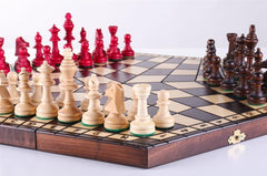 3 Player Large Wood Chess Set - Chess Set - Chess-House