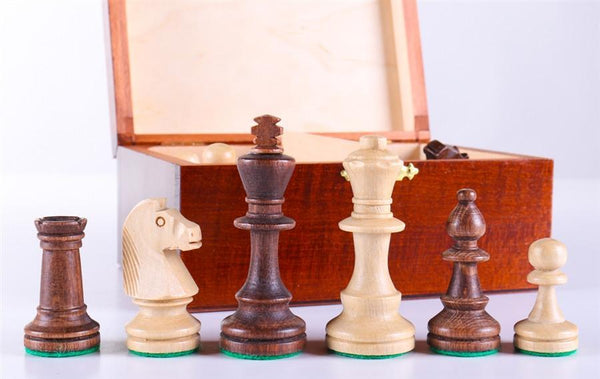 "3"" Standard Staunton Chess Pieces #4 in Dark Wood Box - Piece - Chess-House"
