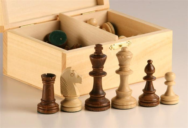 "3"" Standard Staunton Chess Pieces #4 in Light Wood Box - Piece - Chess-House"