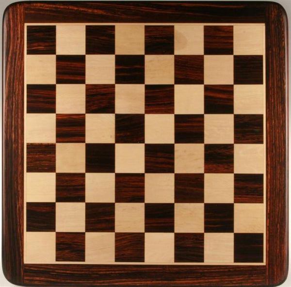 "30"" Wooden Chessboard, Rosewood/White Maple - Board - Chess-House"