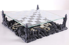3D Dragon Chess Board Chess Set