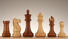 "4 1/4"" Windsor Staunton Chess Pieces - Golden Rosewood - Piece - Chess-House"