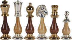 "4"" 24kt. Gold and Silver Plated Chessmen - Piece - Chess-House"