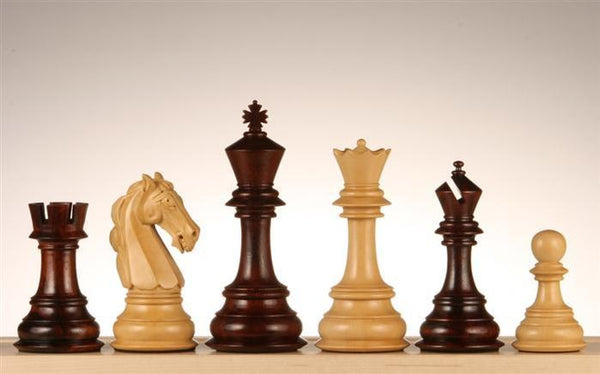 "4.5"" Columbian Knight Bud Rosewood Chess Pieces - Piece - Chess-House"