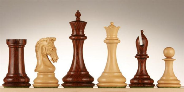 "4.5"" Imperial Boxwood and Rosewood Chess Pieces - Piece - Chess-House"