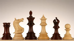 "4.5"" Roaring Knight Budrosewood Chess Pieces - Piece - Chess-House"