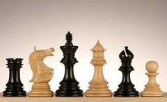 "4.5"" Roaring Knight Ebony Chess Pieces - Piece - Chess-House"