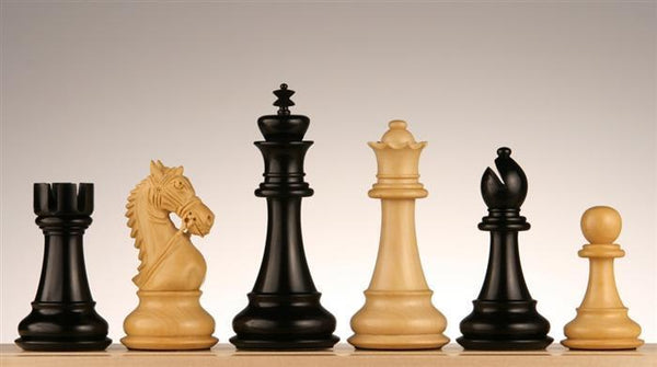 "4.5"" Royal Knight Chess Pieces, Budrosewood - Piece - Chess-House"
