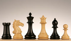 "4"" Aviator Staunton Ebony wood Chess Pieces - Piece - Chess-House"