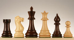 "4"" Classic Series Wood Pieces - Rosewood - Piece - Chess-House"