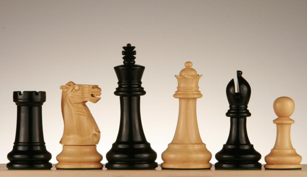 4 inch Ebonized Chess Pieces - Chess Pieces