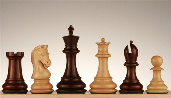 "4"" Imperial Blood Rosewood and Boxwood Pieces - Piece - Chess-House"