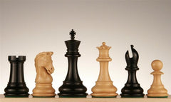 "4"" Imperial Ebony and Boxwood Pieces - Piece - Chess-House"