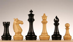 "4"" Meghdoot Ebony Chess Pieces - - Chess-House"