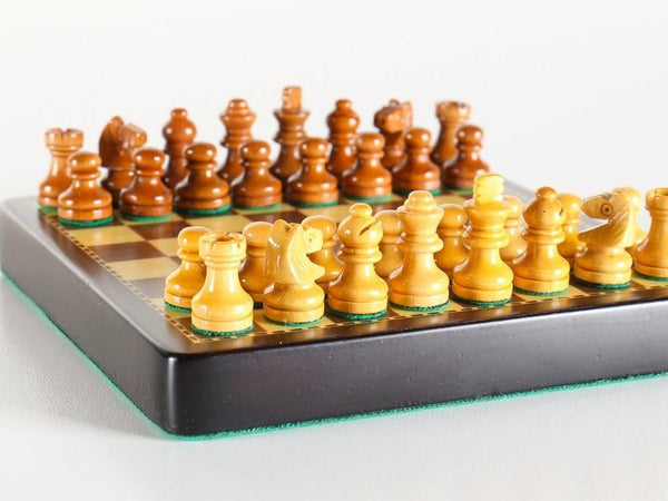 "4"" Mini Magnetic Wood Travel Chess Set - Chess Set - Chess-House"