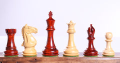 "4"" Padauk Supreme Staunton Pieces - Piece - Chess-House"