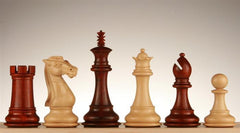 "4"" Royal Knight Chess Pieces, Budrosewood - Piece - Chess-House"