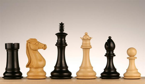 "4"" Royal Knight Chess Pieces, Ebony - Piece - Chess-House"