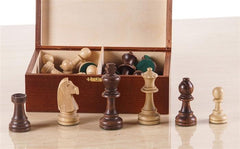 "4"" Standard Staunton Chess Pieces #7 in Dark Wood Box - Piece - Chess-House"