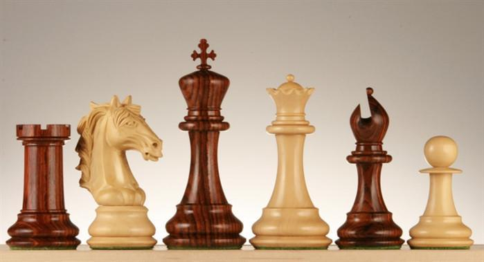 5 inch Fiero Caballero Chess Pieces - Rosewood - Chess Pieces