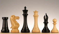 "5"" Master Staunton Ebony Chess Pieces - Piece - Chess-House"