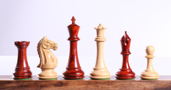 "5"" Master Staunton Padauk Chess Pieces - Piece - Chess-House"