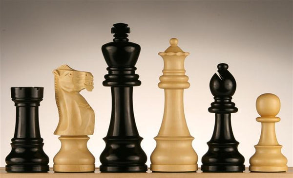 "6"" Jumbo Staunton Chessmen - Ebonized - Piece - Chess-House"