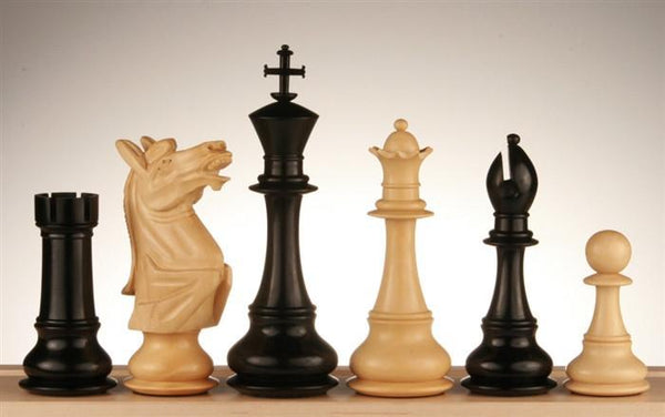 "6"" Napoleon Ebony Chess Pieces - Piece - Chess-House"