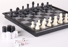 "7 3/4"" 3-in-1 Combination Travel Game Set - Chess Set - Chess-House"