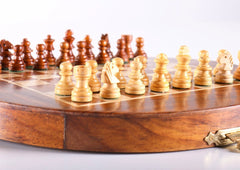 "7"" Magnetic Wood Folding Chess Set - Chess Set - Chess-House"