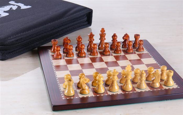 "8"" Magnetic Travel Chess Set in Rosewood - Chess Set - Chess-House"