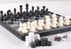 "9 3/4"" 3-in-1 Combination Travel Game Set - Chess Set - Chess-House"