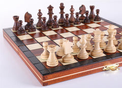 "9"" Mini Magnetic Wooden Travel Chess Game - Chess Set - Chess-House"