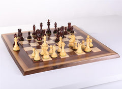 Alban Design Chess Set on Live Edge Chess Board - Chess Set - Chess-House