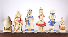 Alice in Wonderland Chess Pieces - SAC Hand Painted Piece